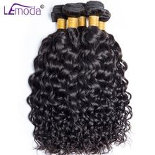 Le Moda Malaysian Water Wave Human Hair Weave Bundles 100g/PC Thick Hair extensions Can be Dyed non Remy Hair(China)