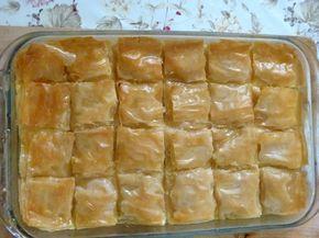 Ägyptisches Rezept für Filloteig (Baklawa) mit Puddingfüllung - Gulash bil Custard