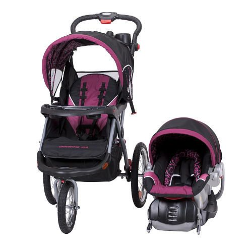 found our new travel system baby trend expedition elx travel system stroller cerise new. Black Bedroom Furniture Sets. Home Design Ideas