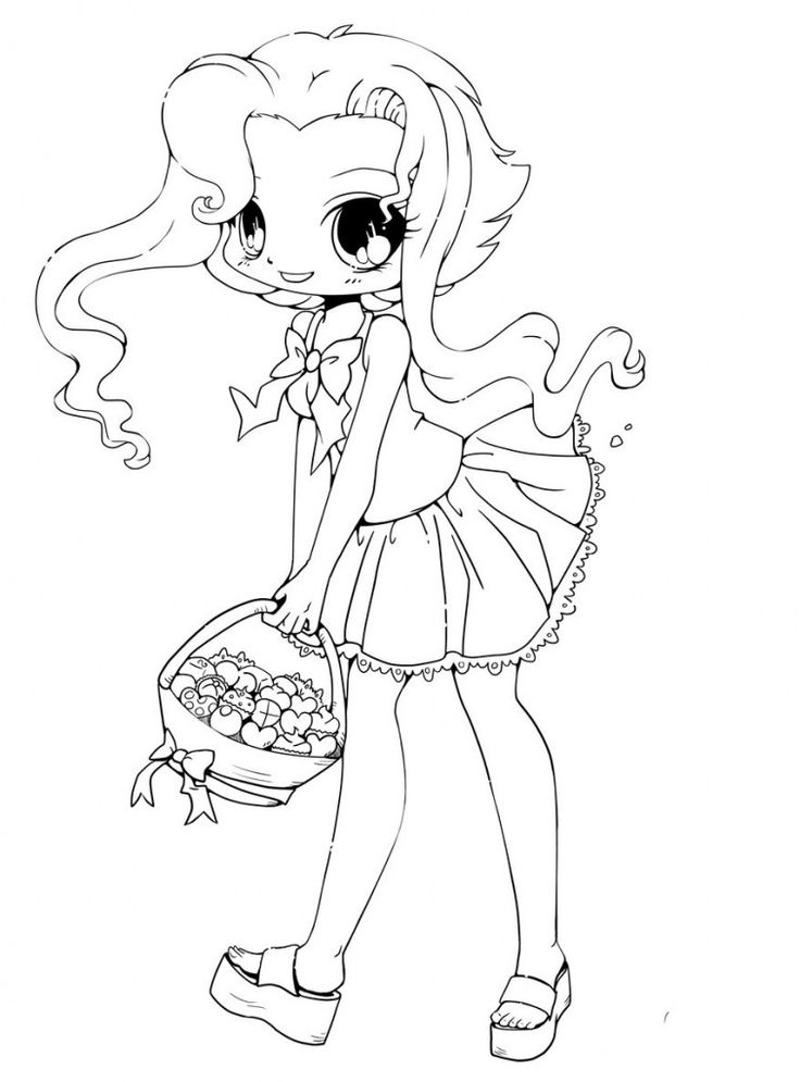 Printable Chibi Coloring Pages omalovánky Pinterest