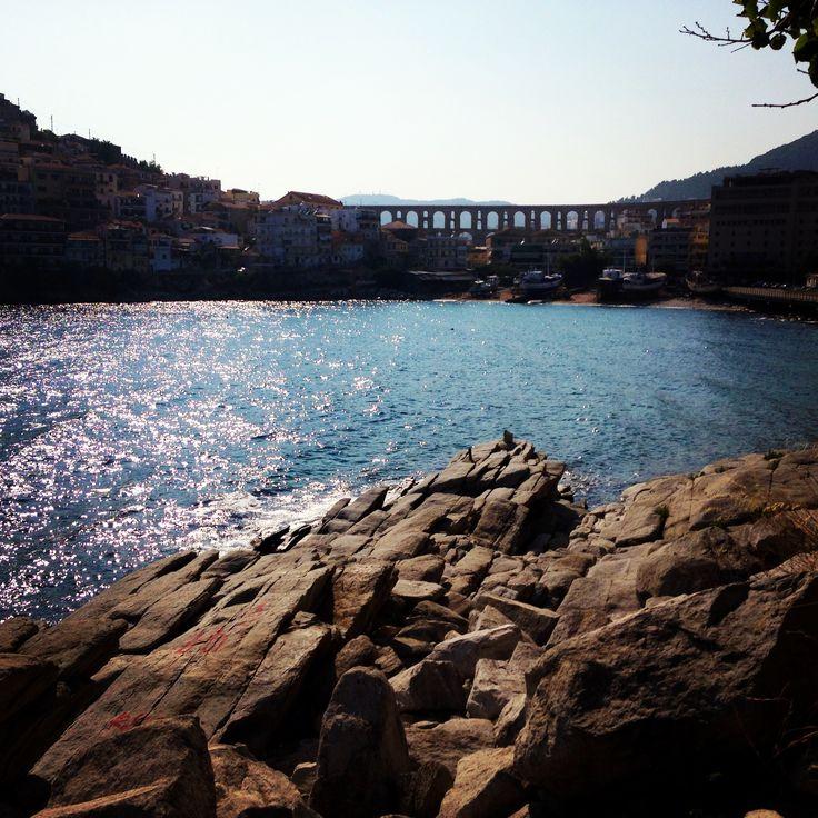 Sea,Kavala,Greece,