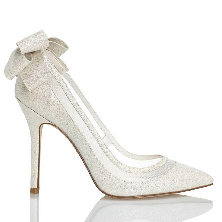 Zapato de novia con lazo atrás de Menbur (ref. 6210) Bridal shoes by Menbur (ref. 6210)