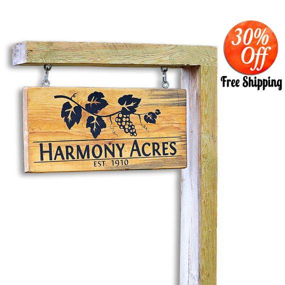 Yard Art.Custom Yard Sign.Outdoor Sign.Outdoor Yard Sign.Outdoor Address Sign.Hanging Sign.Driveway Sign.Custom Business Sign (Yard Sign) by MakariosDecor