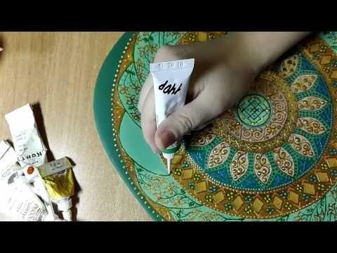 Роспись тарелки от Яны Шапран - YouTube