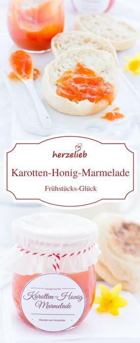 Marmelade zu Ostern - mit Karotten und Honig - für etwas Farbe zum Oster Frühstück.