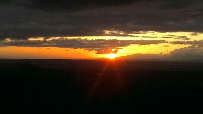 Sun rise over the Rift Valley