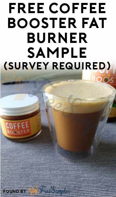 FREE Coffee Booster Fat Burner 2 oz Sample (Survey Required)