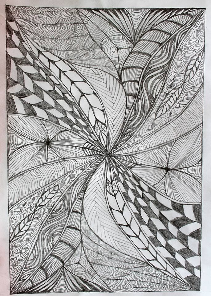 """#zentangle """"The Zentangle Method is an easy to learn, fun and relaxing way to create beautiful images by drawing structured patterns."""" #zen #drawing #rajz #draw"""