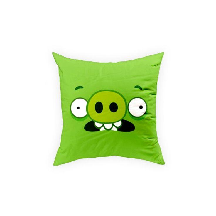 Poduszka Angry Birds AB016 zielony Poszewka 100 % bawełny, Wypełnienie 100% poliester. Rozmiar: 40x40cm. www.halantex.pl