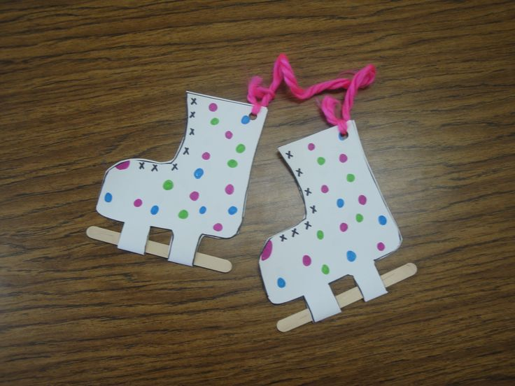 Winter olympic theme Ice skates craft--and more winter program ideas