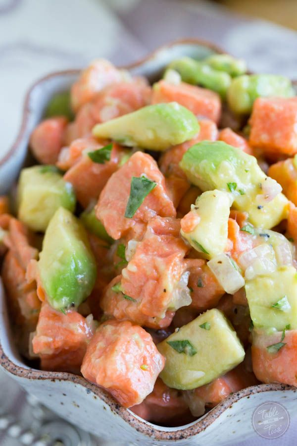 Salmon Ceviche - Table for Two @tablefortwoblog