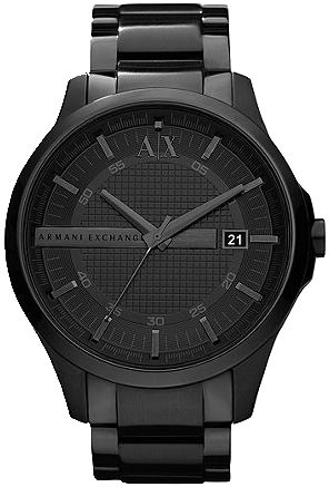 A|X Armani Exchange Watch, Men's Black Ion Plated Stainless Steel Bracelet 46mm AX2104 Brand: armani - Buy it, Borderlinx will ship it to you. http://www.borderlinx.com/