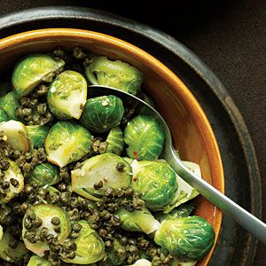 Great Thanksgiving salads and vegetables | Great Thanksgiving vegetable dishes: Spicy Brussels Sprouts with Fried Capers | Sunset.com #SunsetTurkeyDay