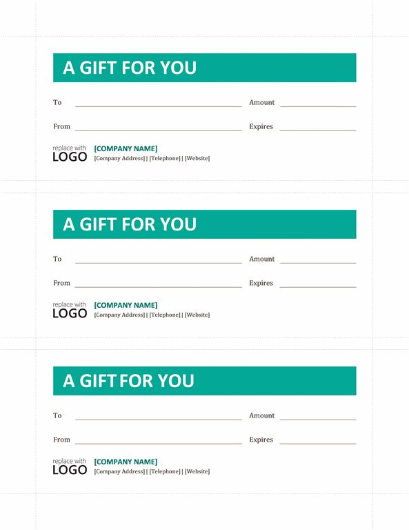 Gift certificates - Templates