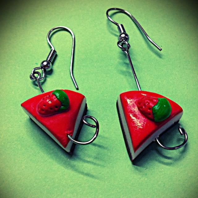 Cheesecake earrings