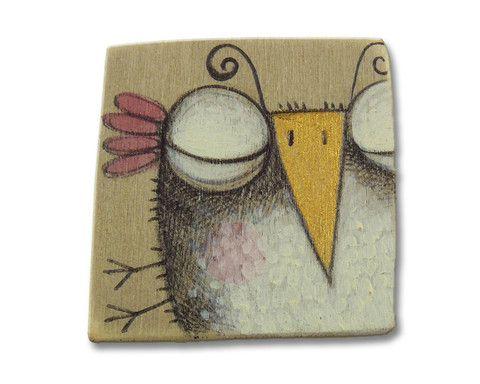 """Spilla legno """"Pennuto #1"""" realizzata da SERENA BALBO— La Casa di Ninni"""