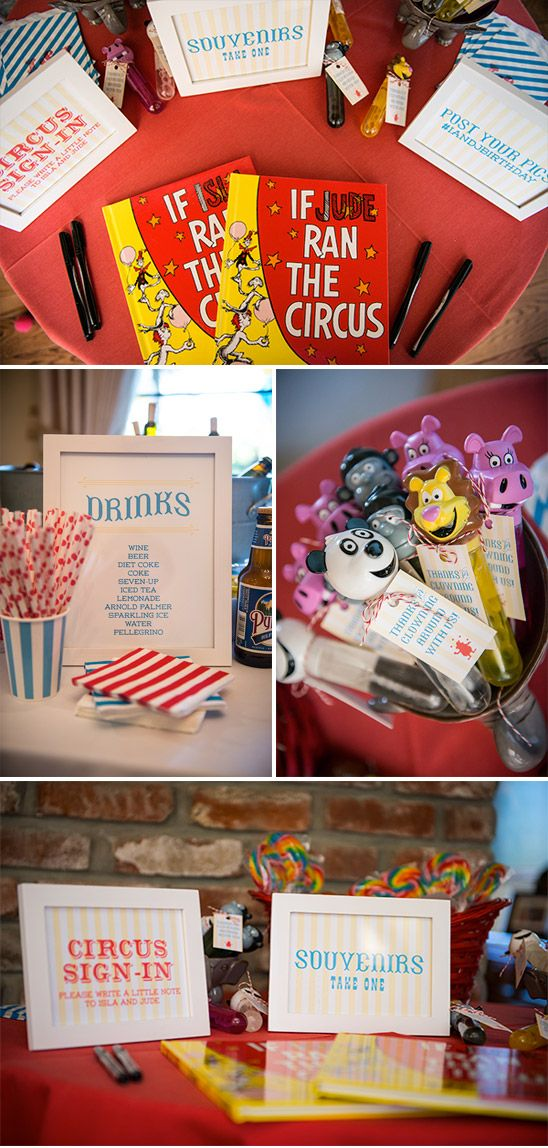 Fun Circus Themed 1st Birthday for Twins Isla and Jude by Bright Room Studio