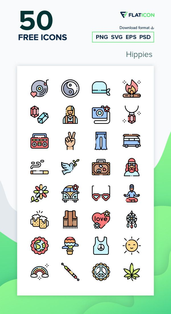 50 Free Vector Icons Of Hippies Designed By Freepik Icon Free Icons Png Free Icon Packs