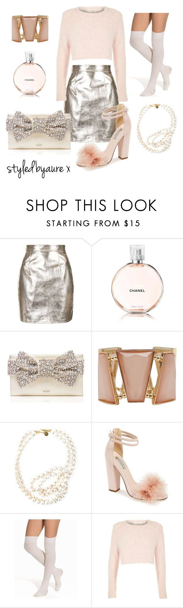 """""""Chanel Oberlin Inspired"""" by styledbyaure ❤ liked on Polyvore featuring Oh My Love, Kate Spade, M&Co, STELLA McCARTNEY, Topshop, OROBLU and River Island"""