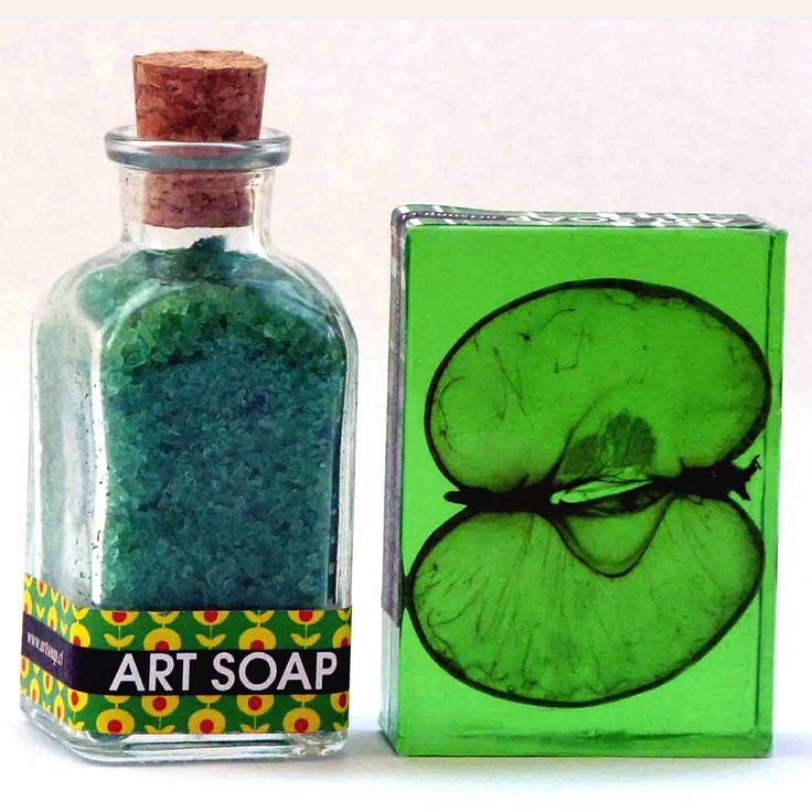 Estuche Sales de Baño + Jabón de manzana. Art Soap.