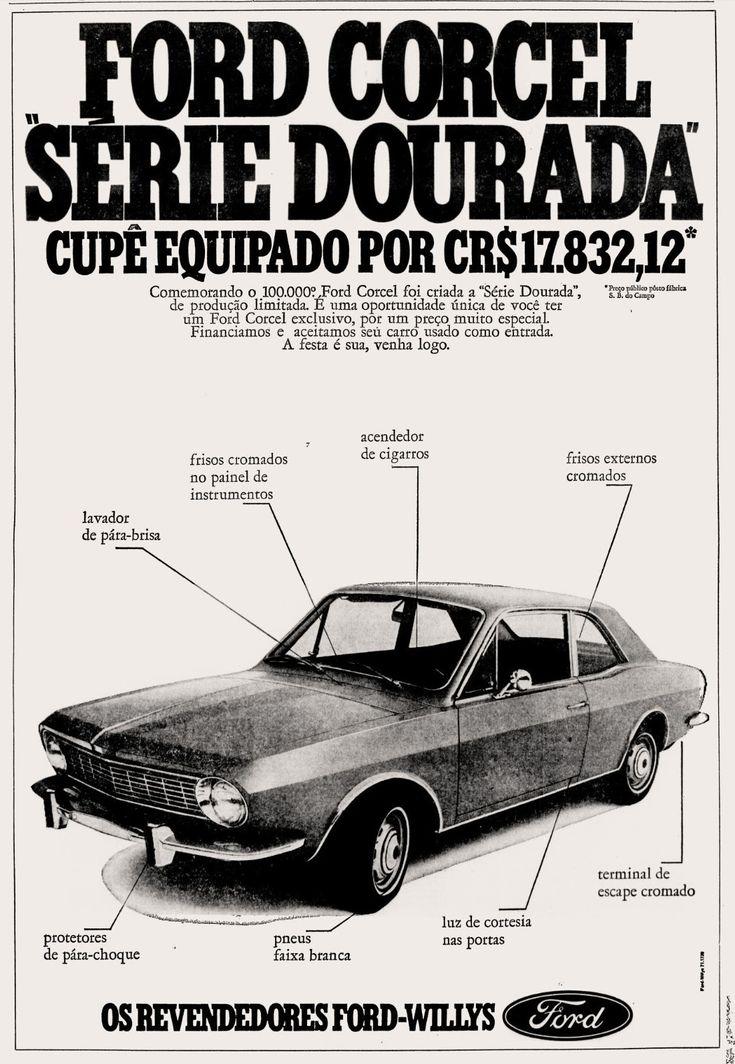 Anúncio Ford Corcel - 1971