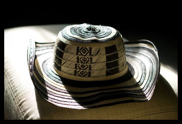 Sombrero Vueltiao. Made out of arrow cane. Originally coming from the indigenous Zenu culture, but now worn by many around the country.