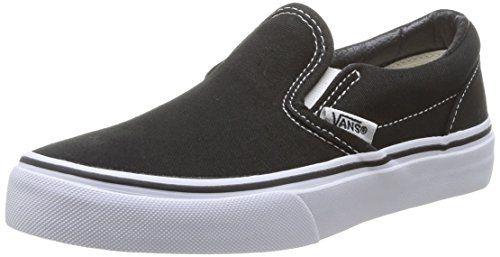 Vans Kids Classic Damen Sneaker schwarz (schwarz/true white) 34,5 - http://on-line-kaufen.de/vans/34-5-eu-vans-kids-classic-slip-on-schwarz-8