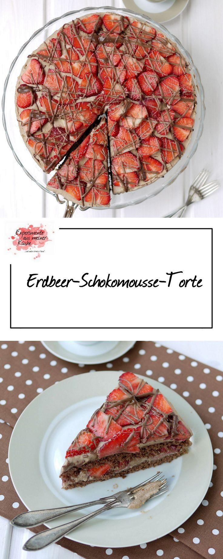 Erdbeer-Schokomousse-Torte | Rezept | Backen | Kuchen