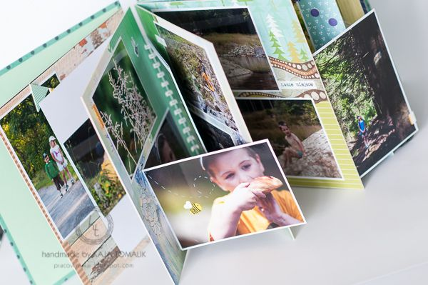 scrapbook album from holiday