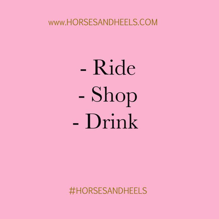 Ride, shop, drink.