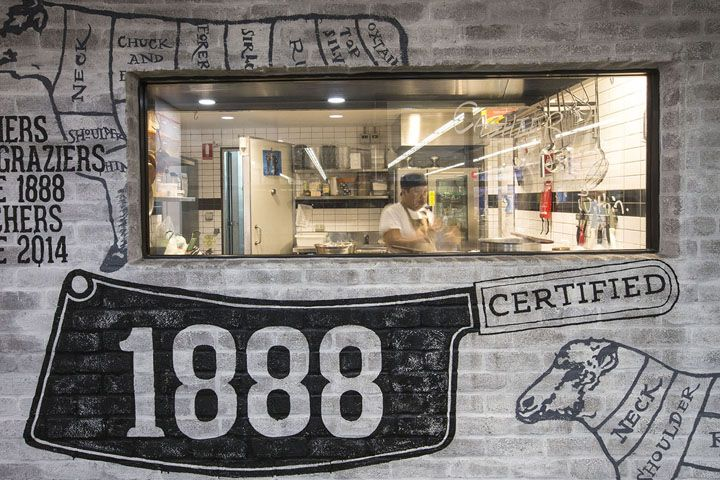 1888 Certified butcher by Morris Selvatico, Sydney – Australia » Retail Design Blog