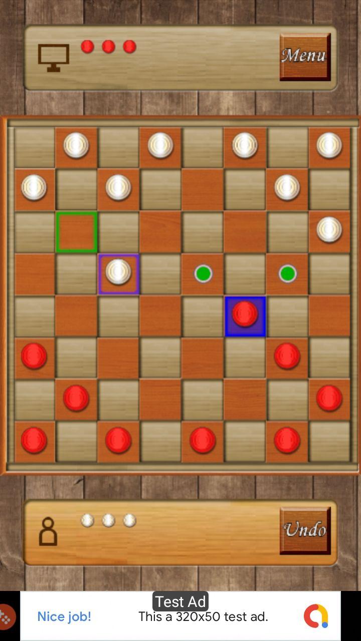 Checkers Dames Android Studio Admob Gdpr Graphic Design Portfolio Cover Strategy Board Games Chess Board