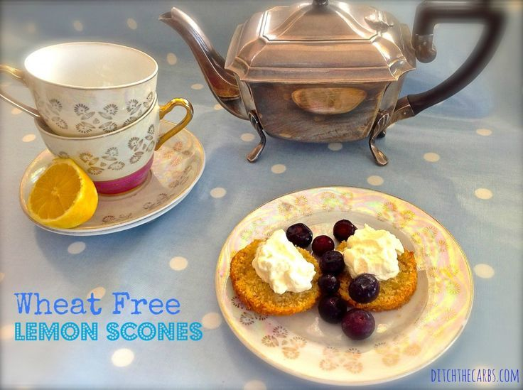 Wheat Free Lemon Scones. Gluten free and no added sugar. Incredibly light and the lemon zest adds another element to them. See more at http://www.ditchthecarbs.com | #lchf #lowcarb #wheatfree #sugarfree #jerf #keto #whole30 #banting #glutenfree #jerf #wholefood #realfood #cleanfood #primal #paelo #grainfree