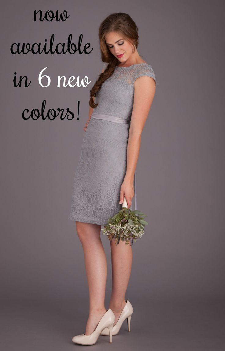 Your favorite lace bridesmaid dress is now available in 6 gorgeous new colors! #blush #coral #mint #charcoal #silver #eggplant