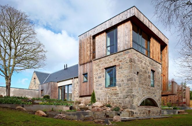 Stone and timber exterior