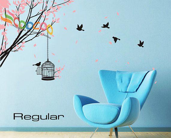 Best Wall Stickers Tree Ideas On Pinterest Family Tree Decal - Wall decals birdsbirds couple on branch wall decal beautiful bird vinyl sticker