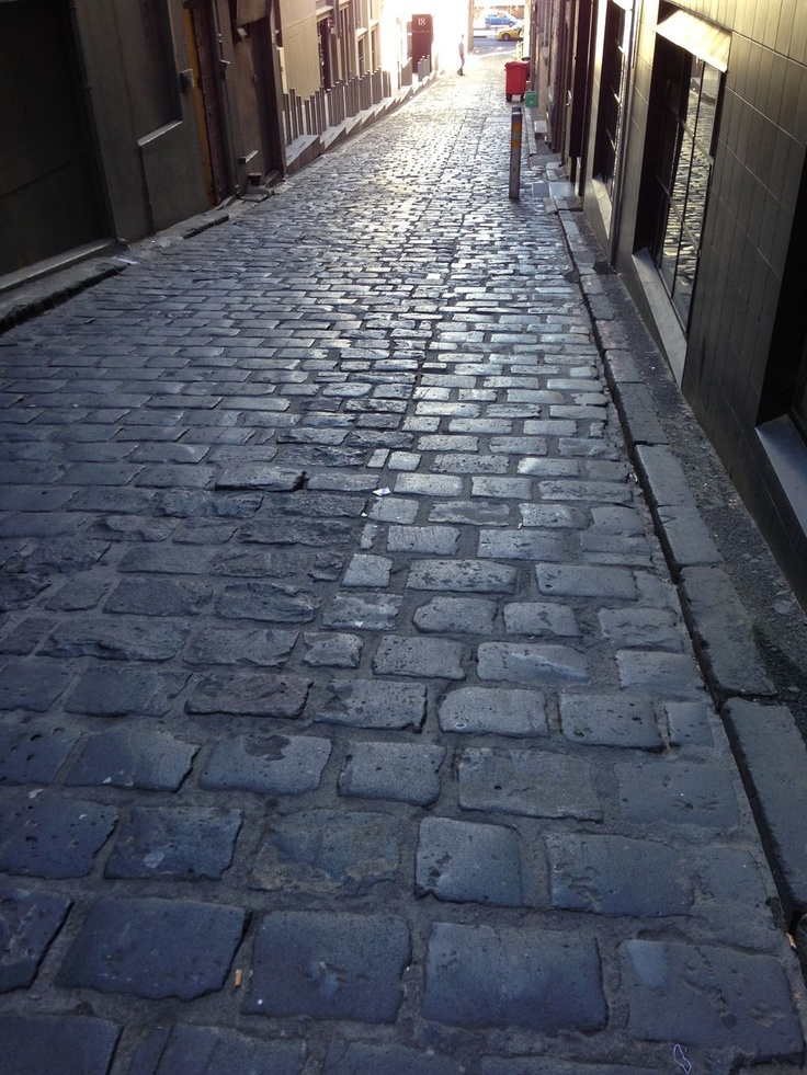 Bluestone has been a part of Melbourne's history since our foundation. This alleyway features #Bluestone pitchers.