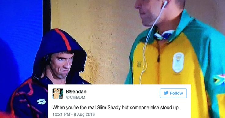 Michael Phelps' seething grimace before the men's 200m butterfly is the greatest meme of the Olympics so far