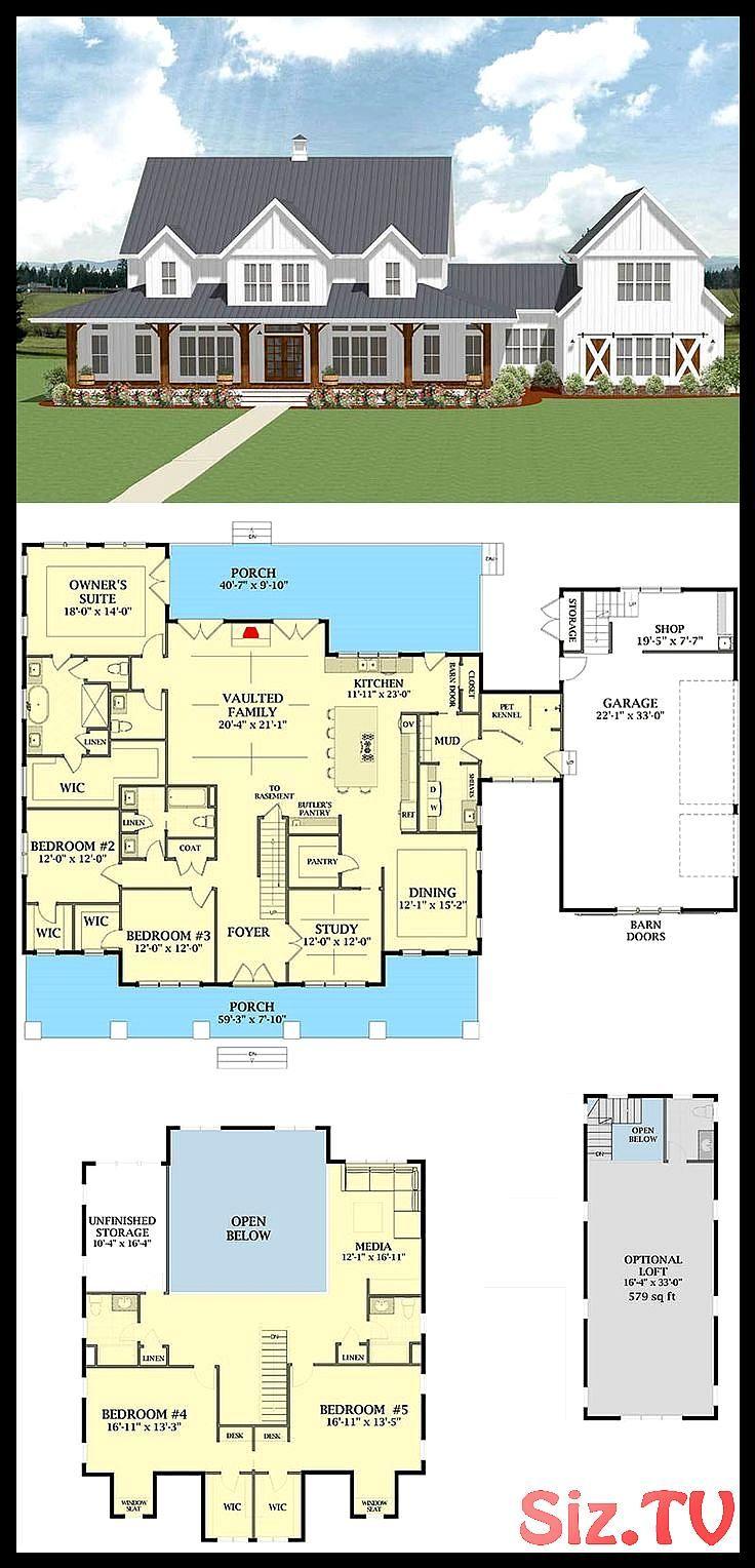 7 Most Popular Farmhouse Plans With Pictures Traumhaus Plane Bauernhaus Plane Landhauser Grundriss