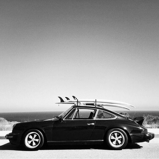 Perfektes Strandauto :-) Porsche 911 Entenbürzel Fuchsfelgen Surfboards fuchs rims wheels