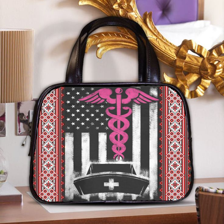CLASSSIC BAG GIRL NURSE PRINTED KNITTING PRINTING AMERICAN  #NEW