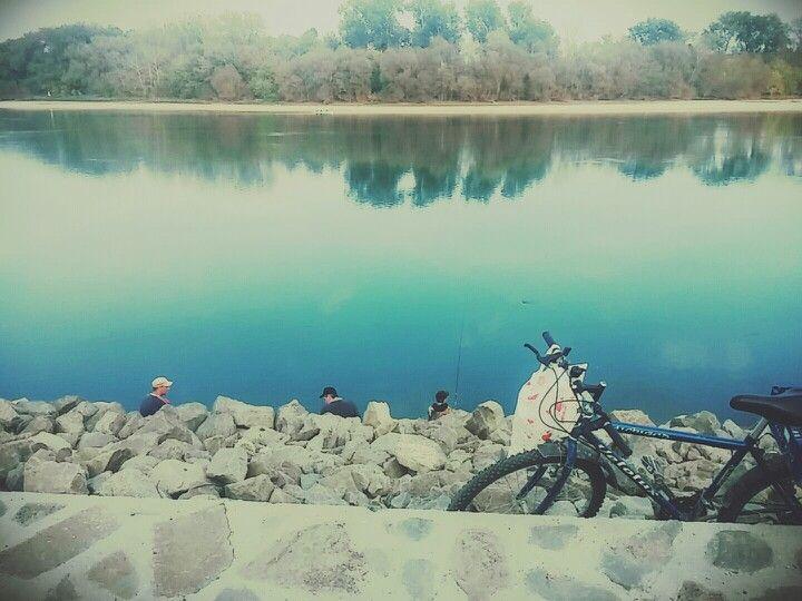 #riverside #rocks #river #forest #people #adventure #ducks