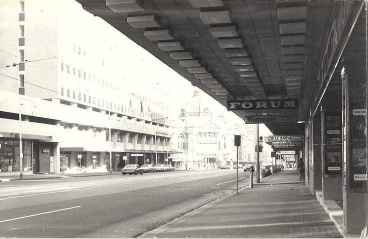 Flinders St - Where fed square is now. Early 1980s