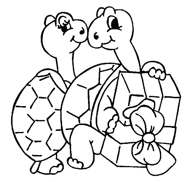 mommy turtle coloring pages - photo#18