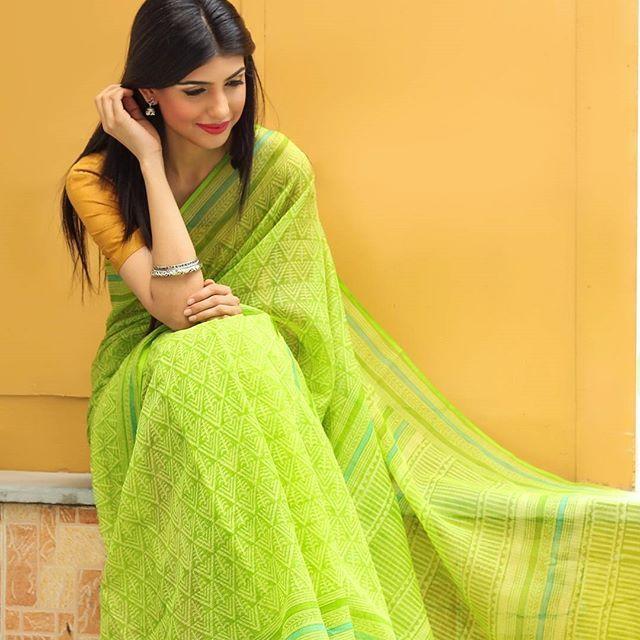 #Sari #Bright #Summertime #SummerCollections #Cotton #Silk #Kota #Printed…