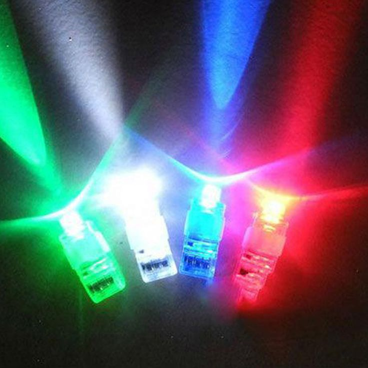 1PCS LED Laser Finger Lights Up Beam Lamps Party Torch Wave Glow Ring