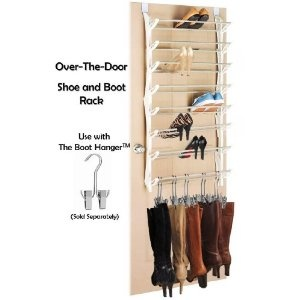 Over the Door Shoe and Boot Rack Storage- Closet or Bedroom Door Hanging Boot and Shoe Storage/Organizer (36 pairs)- Use with The Boot Hanger #wardrobe#organise shoes/boots#wardrobe sense