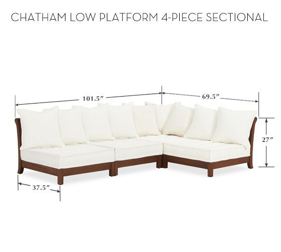 Chatham Low Platform Sectional Set | Pottery Barn