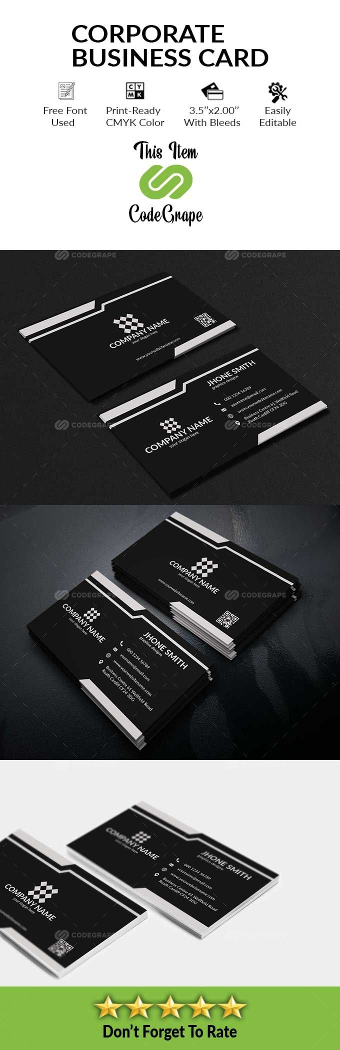 Corporate Business Card In 2021 Corporate Business Card Corporate Business Business Card Design