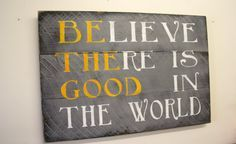 Be The Good Sign Rustic Wood Sign Pallet Wood Sign Distressed Wood Gray and Yellow Room Decor Home Decor Shabby Chic Home and Living on Etsy, $52.00